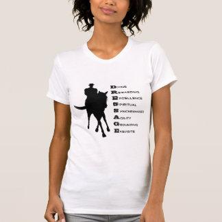 Camiseta O adestramento é silhueta do cavalo