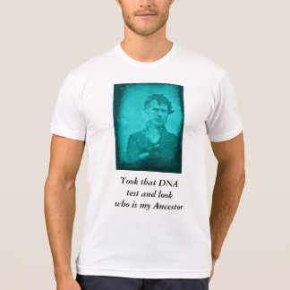 Camiseta O ADN testa o antepassado (a imagem azul)