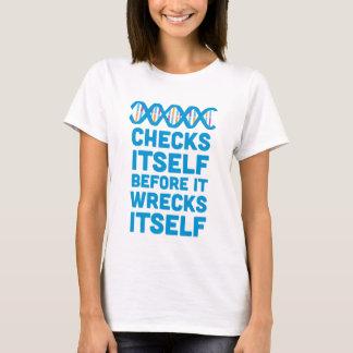 Camiseta O ADN verifica-se