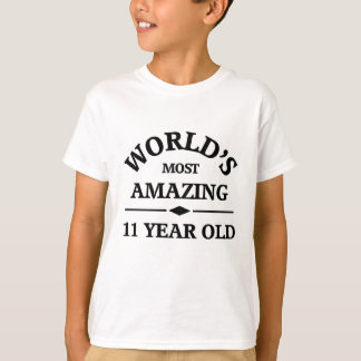 Camiseta O adolescente de 11 anos o mais surpreendente do