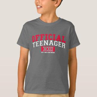 Camiseta O ADOLESCENTE OFICIAL XIII deixou o divertimento