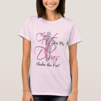 Camiseta O ajustado gosta de me divas