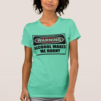 Camiseta O ÁLCOOL de advertência FAZ-ME o t-shirt das