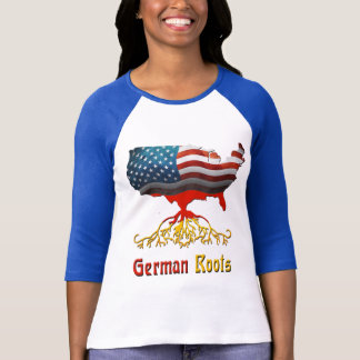 Camiseta O alemão americano enraíza t-shirt das senhoras