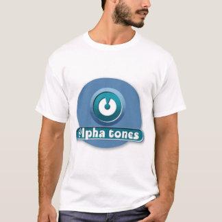 Camiseta o alfa tonifica o logotipo