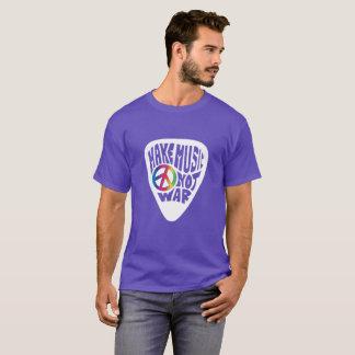 Camiseta O alvorecer faz a paz da picareta da guitarra da