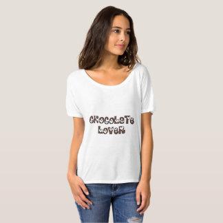 Camiseta O amante do chocolate polvilha a tipografia