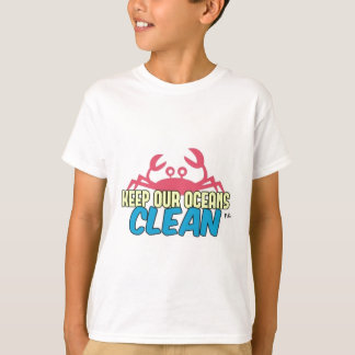 Camiseta O ambiente mantem nosso slogan limpo dos oceanos