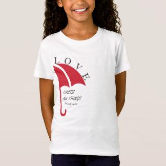 Camiseta o amor cobre todas as coisas