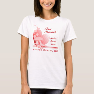 Camiseta O amor da costa tropical aumentou