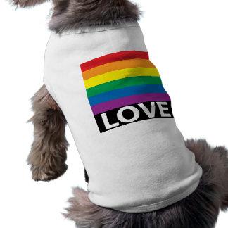 Camiseta O amor do arco-íris, orgulho, LGBT, comemora o