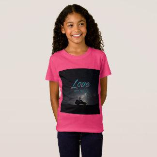 Camiseta … O amor dura para sempre… o t-shirt da menina