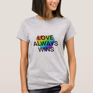 Camiseta O amor é igual comemora a igualdade do casamento