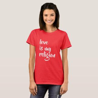 Camiseta o amor é minha religião