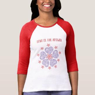 Camiseta O amor é o t-shirt da resposta