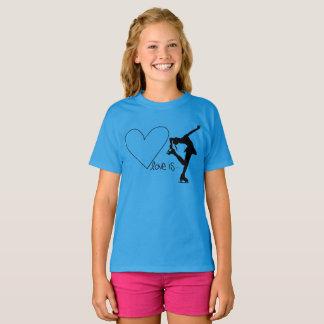 Camiseta O amor é patinagem artística, com coração -