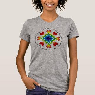 Camiseta O amor é tudo que você precisa o TShirt americano