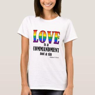 Camiseta O amor é um T básico do mandamento