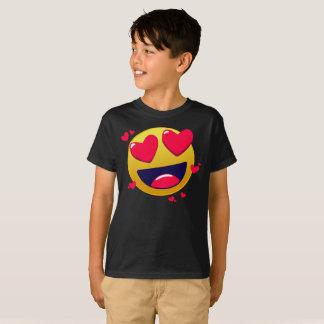Camiseta O amor Emote o t-shirt amarelo dos miúdos da cara