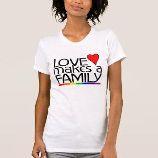 Camiseta O amor faz uma família
