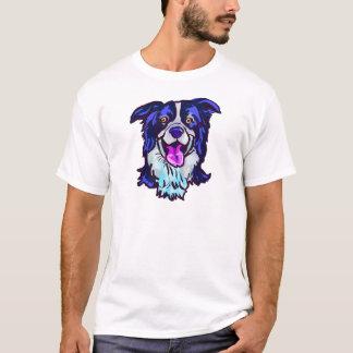 Camiseta O amor feliz de border collie de minha vida