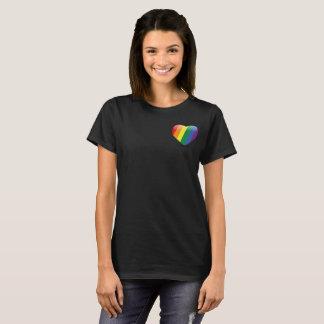 Camiseta O amor ganha sempre o t-shirt da mulher