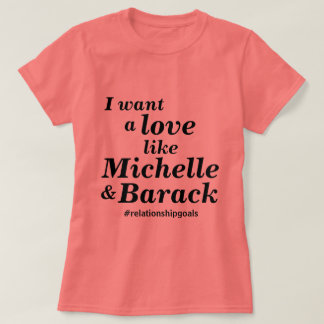 Camiseta O amor gosta de Michelle & de Barack