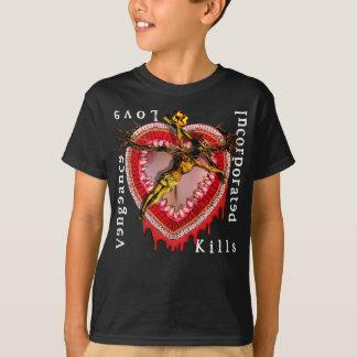 Camiseta O amor incorporado vingança mata o logotipo