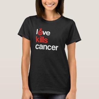 Camiseta O amor mata o cancer - o T das mulheres básicas