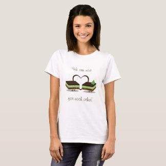 Camiseta O amor Nanaimo da hortelã barra o t-shirt das