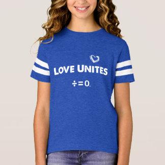 Camiseta O amor une citações positivas da unidade