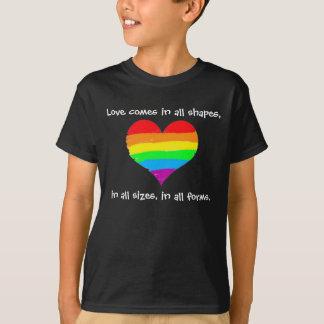 Camiseta O amor vem em todas as formas