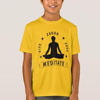 Camiseta O amor vivo do riso Meditate o texto masculino (o