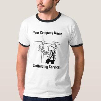 Camiseta O andaime presta serviços de manutenção ao t-shirt