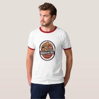 Camiseta O anel americano T de homens vermelhos