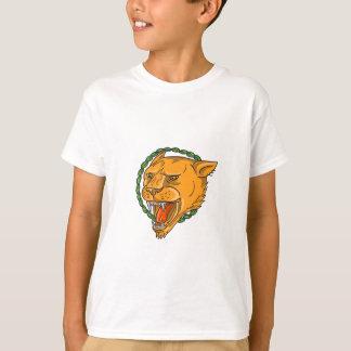 Camiseta O anel da rosnadura da leoa sae do tatuagem