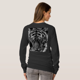 Camiseta O animal do gato de tigre personaliza destinos do
