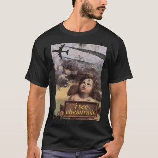 Camiseta O anjo em Madonna de Foligno considera chemtrails