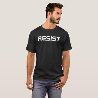 Camiseta o anti trunfo resiste o branco do preto do t-shirt