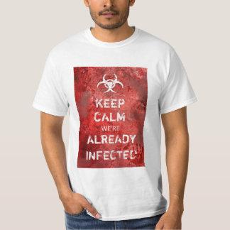 Camiseta O apocalipse do zombi mantem o Dia das Bruxas