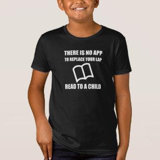 Camiseta O App substitui o regaço lido à criança