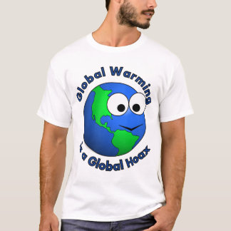 Camiseta O aquecimento global é um embuste global