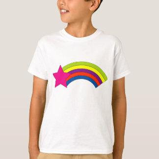 Camiseta O arco-íris da estrela caçoa o t-shirt