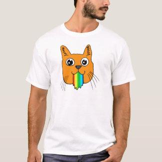 Camiseta O arco-íris Puke os desenhos animados do gato