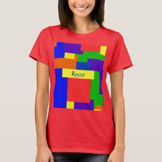 Camiseta O arco-íris resiste o design da edredão de