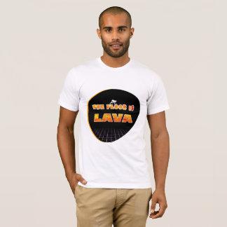 Camiseta O assoalho é t-shirt ardente do texto da lava