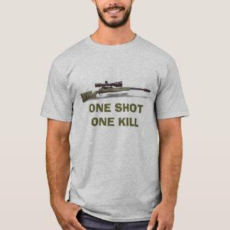 Camiseta O atirador furtivo um disparou em um matar