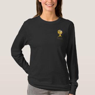 Camiseta O ATLAS oficial SHRUGGED a luva longa das senhoras