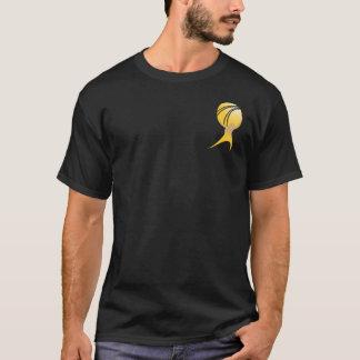 Camiseta O atlas oficial Shrugged T - preto & ouro
