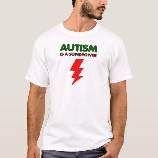Camiseta O autismo é poder super, crianças, miúdos,